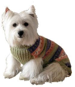 Свитер для собак из перуанской чистой шерсти