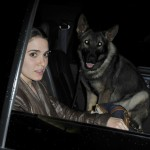 Никки Рид и ее собака Энцо зонарная немецкая овчарка Сумерки