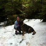 Никки Рид и ее собака Энцо зонарная немецкая овчарка