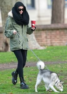 Майли Сайрус и собака Флойд кли кай
