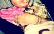 Майли Сайрус и собака Лила